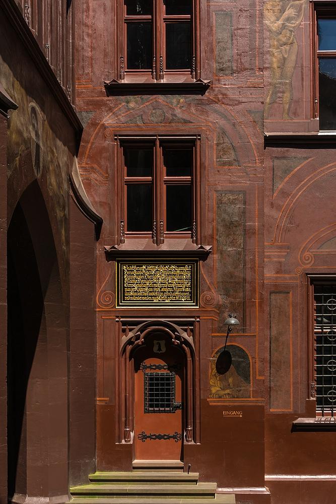 Detail Basler Rathaus Innenhof