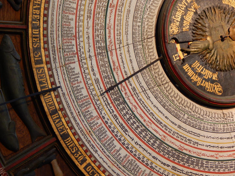 Detail der astronomischen Uhr in Rostock