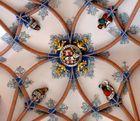 Detail des Deckengewölbes in der St.-Annenkirche zu Annaberg