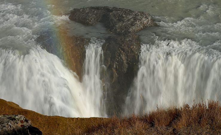 Detail des Gulfoss-Wasserfalls