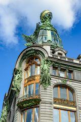 Detail des Singer Hauses in St. Petersburg