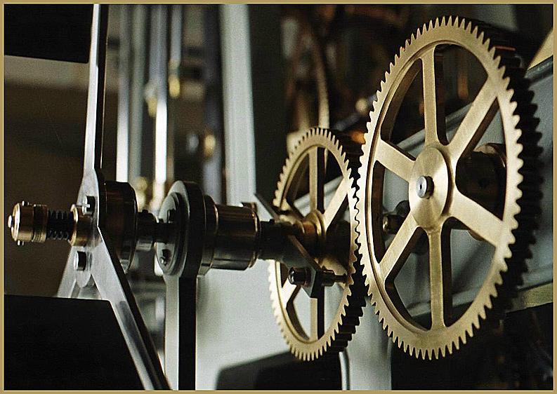 Detail des Uhrwerks ...