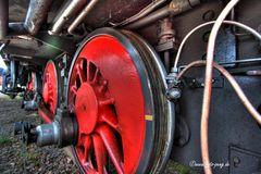 Détail d'une vieille locomotive à vapeur