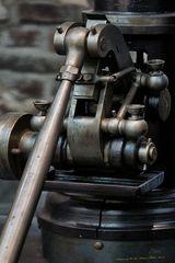 Detail einer alten Dampfmaschine