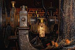Detail einer alten Lanz Dampfmaschine