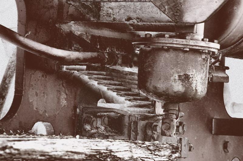 Detail einer alten Lok im Stahlwerk Becker (Willich)