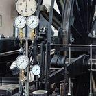 Detail einer Fördermaschine