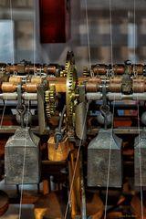 Detail einer Waterframe Maschine