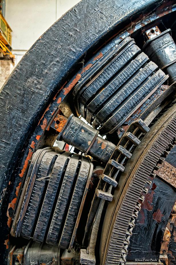 Detail eines elektrischen Generators