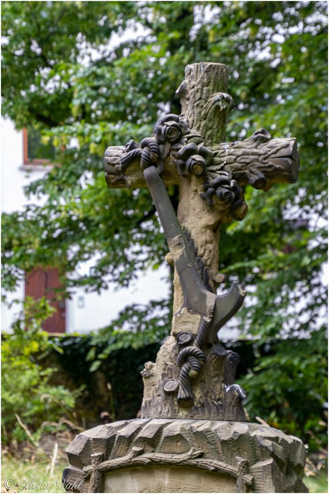 Detail eines Grabsteines
