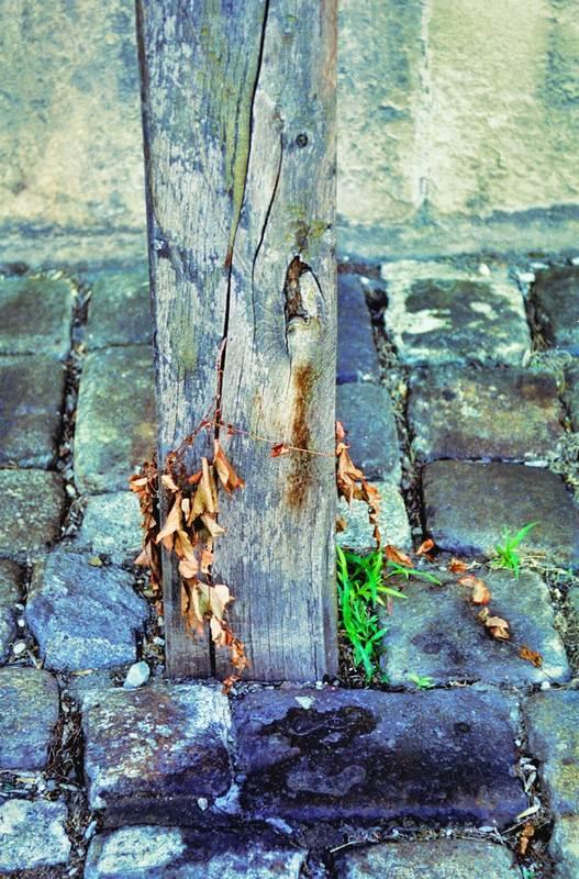 Detail eines Kreuzes vor einer Kirche in Bratislava