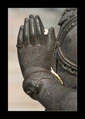 Detail eines Tempelfigurs