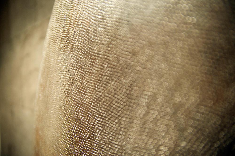 Detail gehämmerter, runder Stahl