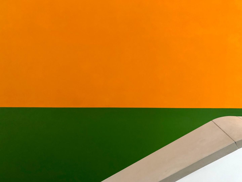 Detail, orange-grün