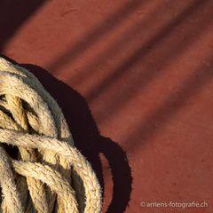 Detail Seil mit Schatten