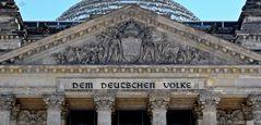 Detail vom Reichstagsgebäude, Berlin