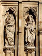 Detail Westportal der Westminster Abbey