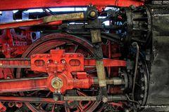 Detailansicht einer Dampflok BR44