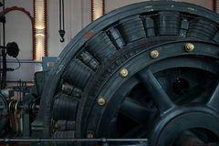 Detailansicht einer elektrischen Fördermaschine