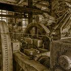 Detailaufnahme von einer Expansionsdampfmaschine