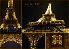 Details vom Eiffelturm By Night