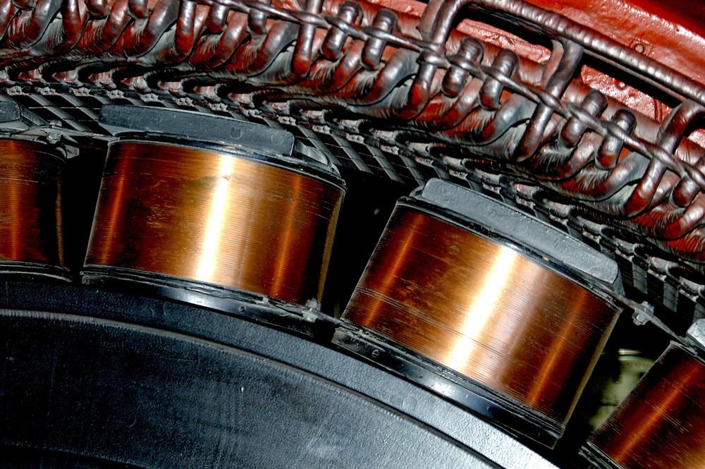 Detail,Spulen des Generators