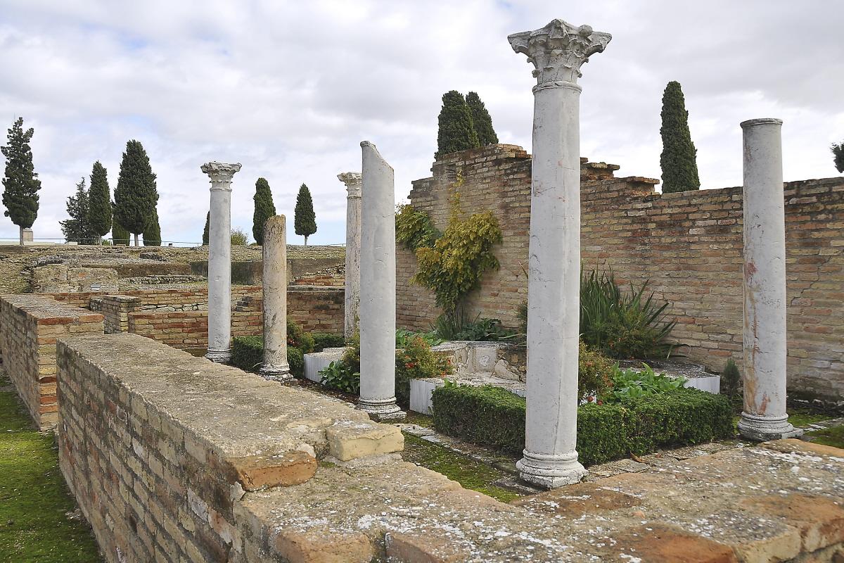 Detalle de la casa de los pajaros (Ruinas Italicas)