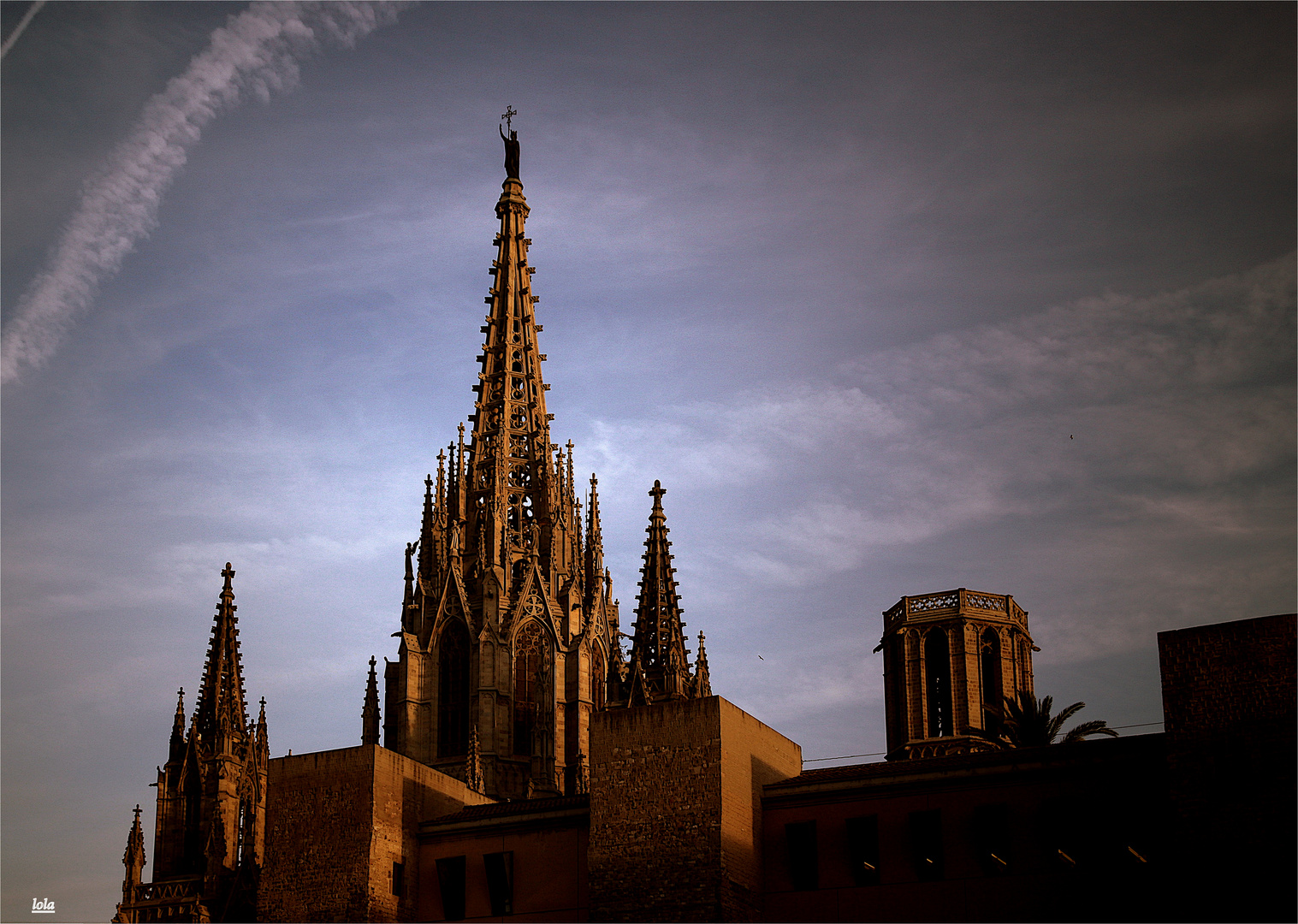 ...detalle de la catedral de Barcelona...