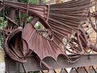 Detalle del dragón en la entrada de la finca Güell en Barcelona