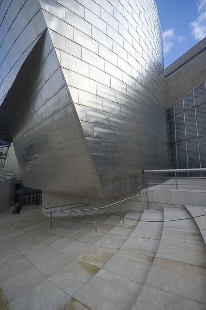 Detalle del edifico más emblemático de Bilbao