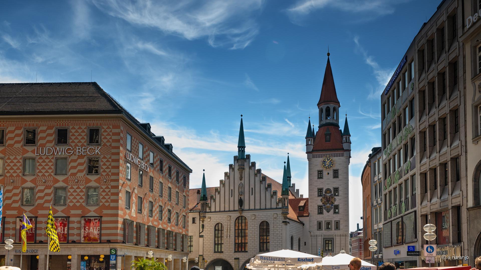 Detalles plaza de Maria Munich