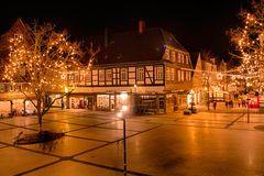 Detmolder Marktplatz in der Weihnachtszeit