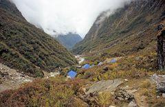 Deurali beim Abstieg vom Annapurna Base Camp (A.B.C.)