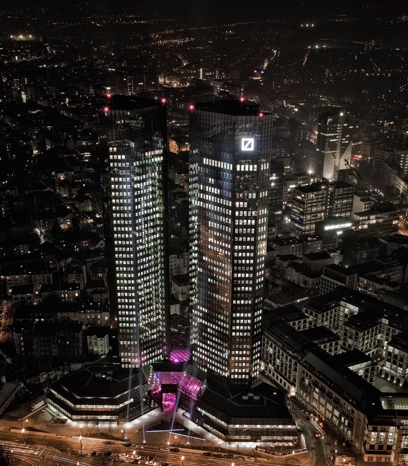 Deutsche Bank Twin Towers in Frankfurt - nach Sanierung