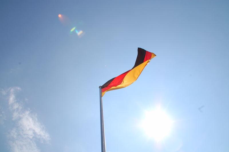Deutschland Fahne im Wind