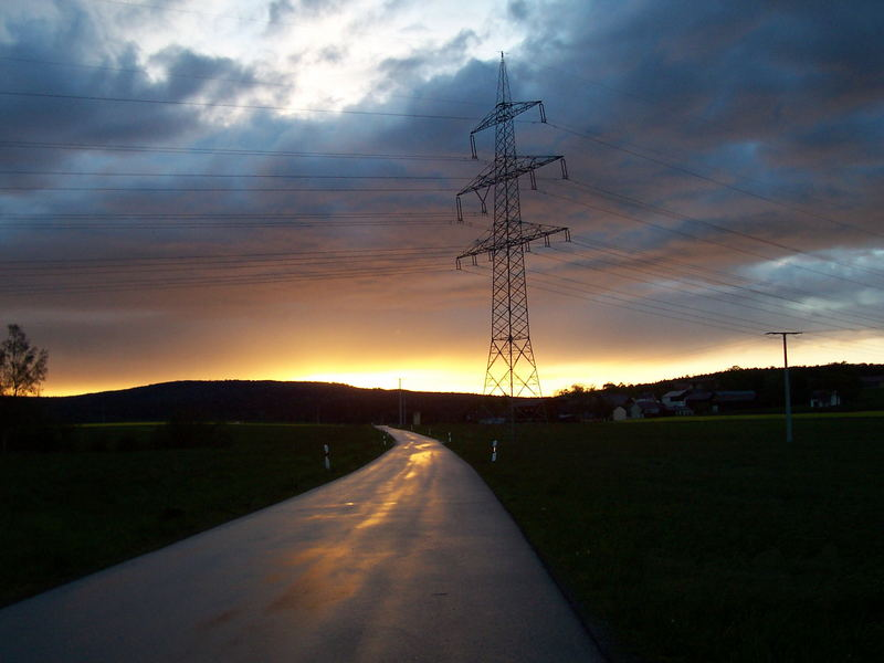 Deutschland, Marktredwitz of Night