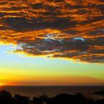 Deux mers au coucher du soleil à Nouméa