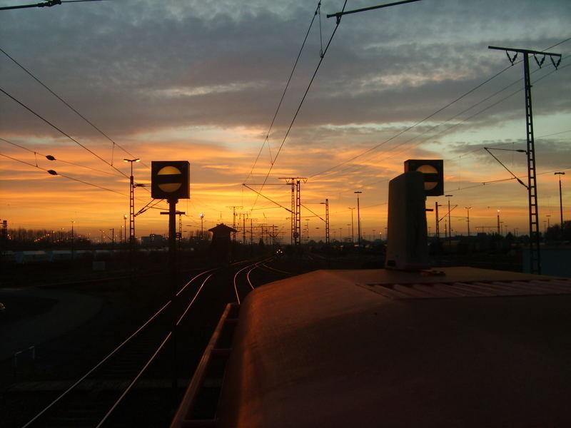 Dezember Sonnenaufgang im Rbf Gremberg