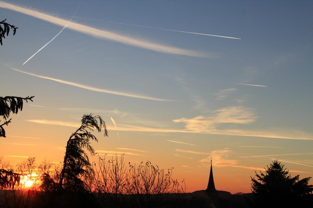 """ Dezember-Sonnenuntergang"""