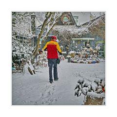 DHL liefert auch wenn es schneit