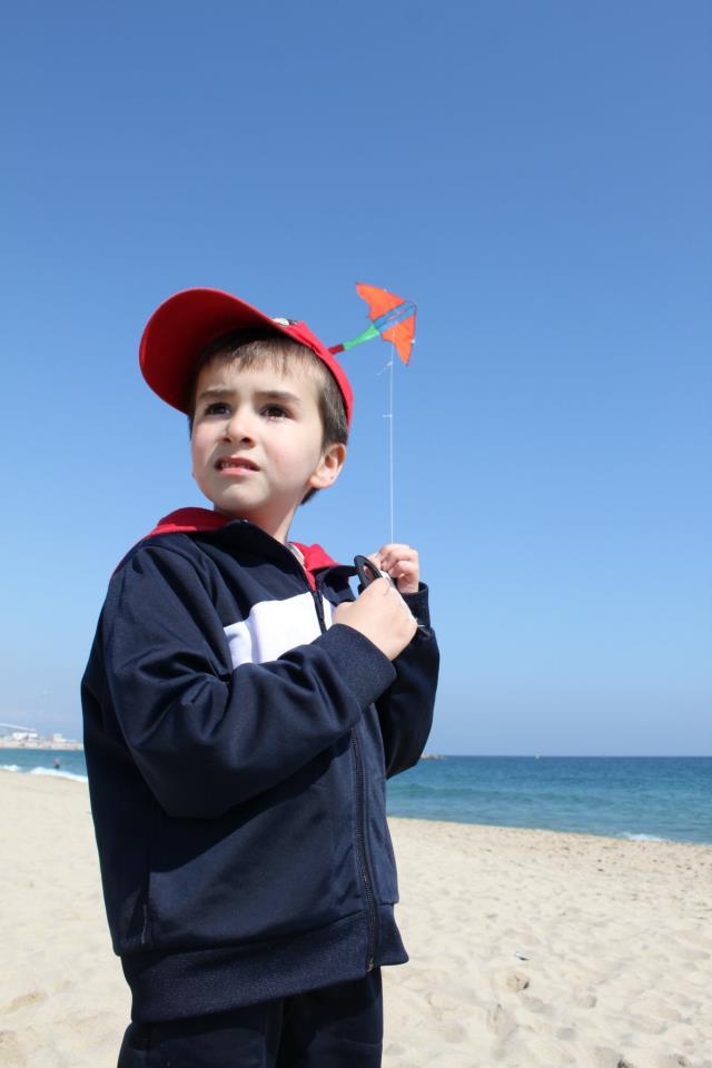 Dia de Cometa en las playa de Barcelona