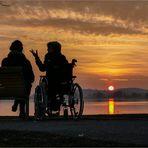 Dialog bei Sonnenuntergang
