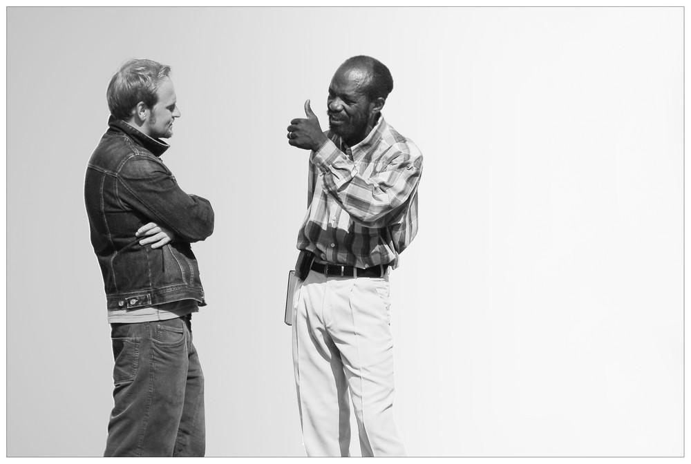 ~ Dialog in SW ~ Foto & Bild   erwachsene, zwei menschen