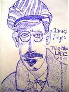DIBUJANDO A JAMES JOYCE...  FERNANDO LÓPEZ   fOTOGRAFÍAS...