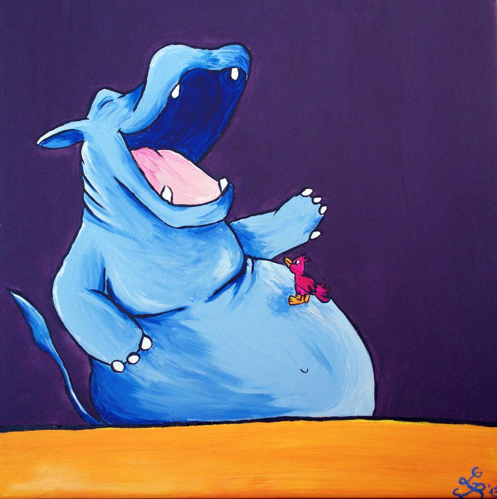 dickes blaues Nilpferd