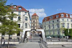 Die 1230 erbaute Nikolaikirche in Rostocks Altstadt