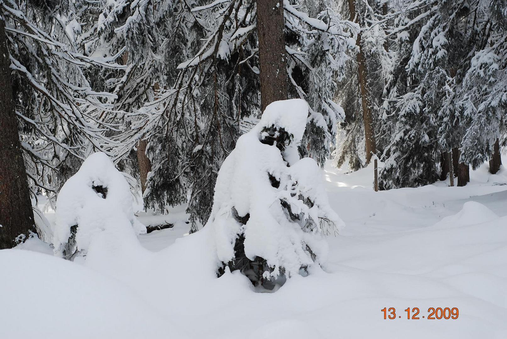 Die 2 Hexen im Schnee