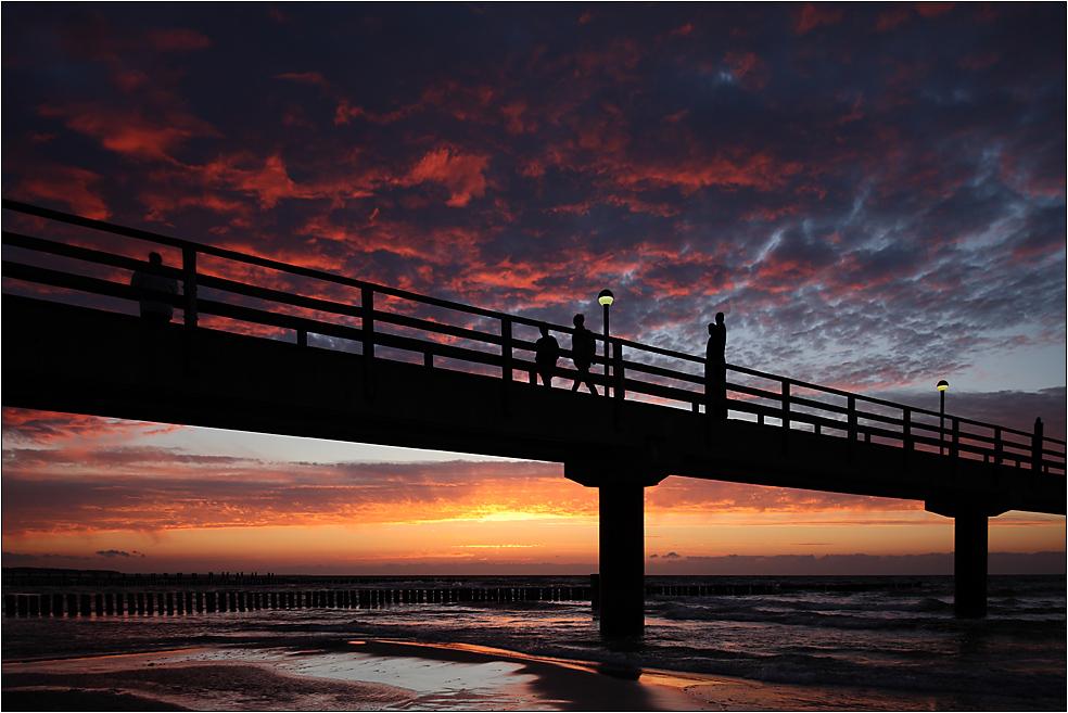 Die 3 auf der Seebrücke...