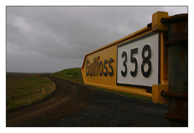Die 358 führt zum Gullfoss...