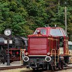 Die 52 und V65 im Zechenbahnhof Pietzberg 001